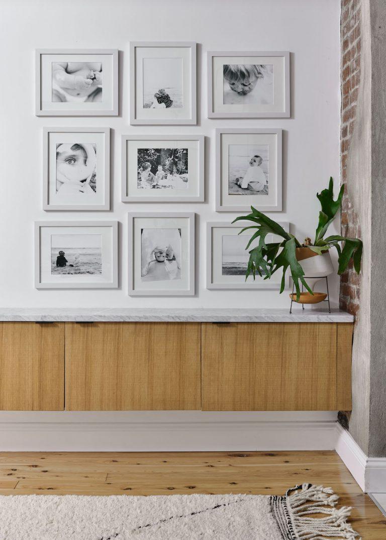 идеи стен галереи с белыми рамками