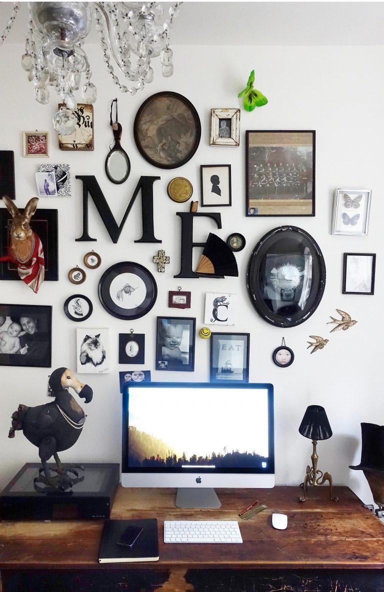 идеи стен галереи эклектичных объектов стены галереи