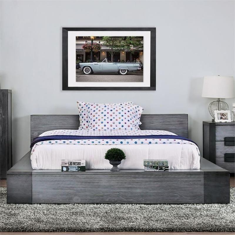 спальня с оттенками серого